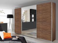 Rauch Quadra Kleiderschrank Möbel Schwebetürenschrank Schrank 4x Spiegel Dekor wählbar Breite 315 cm für Schlafzimmer