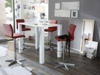 MWA Aktuell Barhocker Milano Barstuhl in Kunstleder Stoff oder Echtleder für Esszimmer Küche oder Partyraum Gestell und Sitzschale wählbar