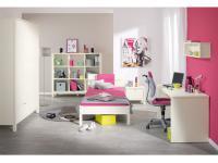 Paidi Matilda Jugendzimmer 6 teilig Kleiderschrank, Bett, Nachtkommode, Regal, Wandboard und Schreibtisch Absetzung wählbar
