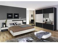 Rauch Saragossa Packs Schlafzimmer bestehend aus Schwebetürenschrank Schrank Bett Doppelbett Nachtkonsolen Ausführung wählbar