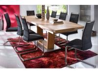 MCA Cantania Furniture Tisch Cantania moderner Auszugstisch in Kernbuche massiv, Biancoeiche massiv oder Wildeiche massiv in 2 verschienden Ausführungen und Größen