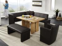 K+W Silaxx 7968 Eckbankmöbel Essgruppe Tisch Esstisch Freestyle KW Möbel hochwertige Tisch Eckbank Stoff oder Leder wählbar