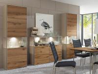 Venjakob Kombination SE02 sentino Wohnwand für Wohnzimmer und Esszimmer ohne Beleuchtung Ausführung wählbar