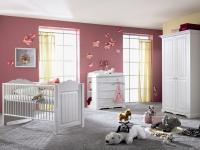 IMS Living Cinderella Premium Babyzimmer Kinderzimmer Schrank Bett Wickelkommode Kiefer teilmassiv 3-teilig