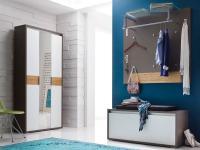 Wittenbreder Merano Muchele komplette Garderobe Vorschlagskombination 07 für Flur mit Truhe, Kompakt-Garderobe und Paneelen