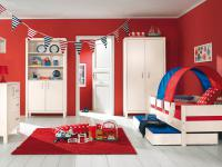 Paidi Pinetta Kinderzimmer Jugendzimmer 3 teilig Kleiderschrank Kommode Kinderliege in Fichte natur oder weiß