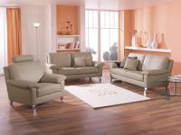 Schillig Willi Sofagarnitur Matrixx Liva 3-teilig Sessel + Sofa 2, 5 Sitzer + Sofa 3 Sitzer für Ihr Wohnzimmer in Stoff oder Leder