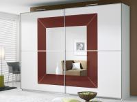 Rauch Focus Kleiderschrank Dialog Schwebetürenschrank Schrank Dekor Größen Glasauflage und Spiegel wählbar
