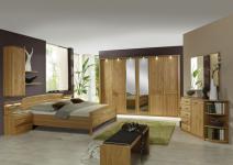 Schlafzimmer Lausanne Wiemann Doppelbett, Drehtürenschrank, 2 Nachtschränke, Beimöbel sowie Ankleidebank in Erle oder Birke teilmassiv wählbar komplettes Schlafzimmer