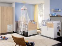 Priess Achat for Kids Babybett Kleiderschrank 2-türig mit 3 Schubkästen Kommode mit 2 Schubkästen und 1 Tür Regal optional wählbar Steckboard