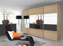 Rauch Quadra Kleiderschrank Möbel Schwebetürenschrank Schrank 6x Spiegel Dekor wählbar Breite 315 cm für Schlafzimmer
