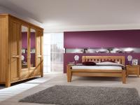 IMS Living Donna Schlafzimmer Wildeiche 4-teilig inkl. Schrank Bett 2xNachtkommode