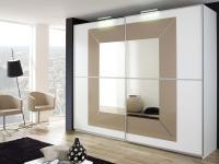 Rauch Focus Kleiderschrank Dialog Schwebetürenschrank Schrank Dekor Breite Höhe Glasauflage und Spiegel wählbar