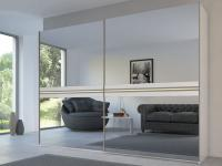 Rauch Steffen Linea Concept 20up Schwebetürenschrank Kleiderschrank Front 4B Kristallspiegel Dekor-Druck