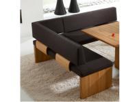 Venjakob IM PULS Eckbank mit Rückenlehne P3 IMPULS Sitzbank für Esszimmer Speisezimmer mit Stoff oder Lederbezug in mehreren Größen