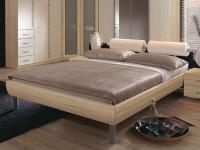 Rauch Select Gala Bettenystem Einzelbett Futonbett Liege Aluspangen Kopfteil mit Metallstange Größe und Ausführung wählbar