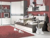 Rudolf str8.up Bett für Kinderzimmer und Jugendzimmer inkl. Bettkasten und Schubkästen in verschiedenen Farbausführungen