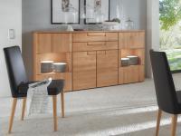 Wöstmann Highboard 3212 Cantana 3000 für Wohnzimmer Ausführung und Beleuchtung wählbar