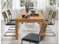 S-KULTUR by Wöstmann PROFIL Tischsystem Esstisch vollmassiver Tisch mit individuellen optischen Gestaltungsmöglichkeiten für Esszimmer
