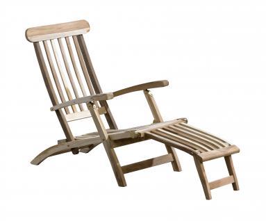 Teakholz Deckchair Teakliege Gartenliege Sonnenliege Relaxliege Liegestuhl