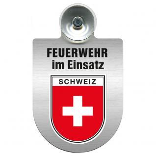 Einsatzschild Windschutzscheibe - Feuerwehr - incl. Regionen nach Wahl - 309355 Schweiz
