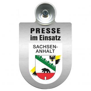 Einsatzschild Windschutzscheibe incl. Saugnapf - Presse im Einsatz - 309456-11 Region Sachsen-Anhalt