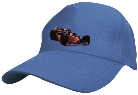 Kinder BaseCappy mit Rennauto-Bestickung - F1 Rennauto - 69126-3 blau - Baumwollcap Baseballcap Hut Cap Schirmmütze