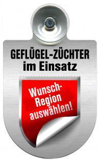 Einsatzschild Windschutzscheibe incl. Saugnapf - Geflügelzüchter im Einsatz - 309362- Regionen nach Wahl - 309362 -