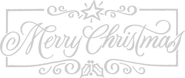 """Wandtattoo/ Dekorfolie mit Motiv """" Marry Christmas"""" Ø 90 cm Länge max. 100 cm, in 11 Farben WD0800 silber"""