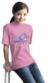 Kinder T-Shirt mit Pferdemotiv - Sternen-Ponys - 06955 - rosa - Kollektion Bötzel - Gr. 110/116