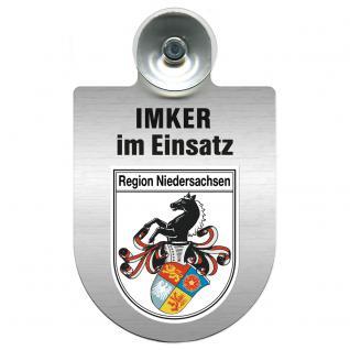 Einsatzschild Windschutzscheibe incl. Saugnapf - Imker im Einsatz - 309382-0-7 - Region Niedersachsen