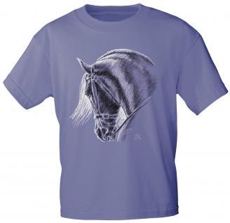 Kinder T-Shirt mit Print - Barock - 08185 - violett - Kollektion Christina Bötzel - Gr. 110/116