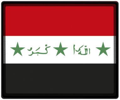 Mousepad Mauspad mit Motiv - Irak Fahne Fußball Fußballschuhe - 82066 - Gr. ca. 24 x 20 cm