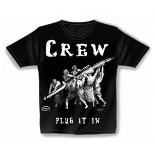 Designer T-Shirt - Plug in crew - von ROCK YOU MUSIC SHIRTS - 10157 - Gr. S