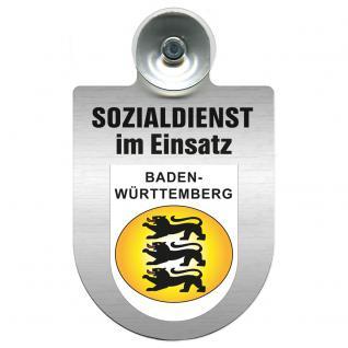 Einsatzschild Windschutzscheibe incl. Saugnapf - Sozialdienst im Einsatz - 309388-1 - Region Baden-Württemberg