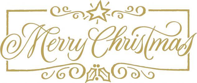 """Wandtattoo/ Dekorfolie mit Motiv """" Marry Christmas"""" Ø 90 cm Länge max. 100 cm, in 11 Farben WD0800 gold"""