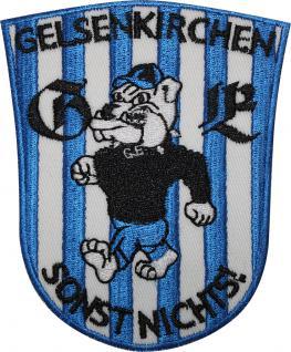 AUFNÄHER - Gelsenkirchen - NEU - 00554 - Gr. ca. 7, 5 cm x 10, 5 cm - Patches Stick Applikation Bügel-Emblem