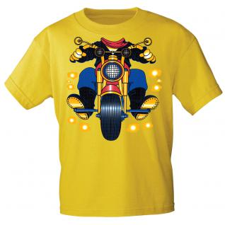 Kinder Marken-T-Shirt mit Motivdruck in 13 Farben Motorrad K12780 gelb / 110/116