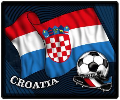 Mousepad Mauspad mit Motiv - Kroatien Fahne Fußball Fußballschuhe - 83087 - Gr. ca. 24 x 20 cm