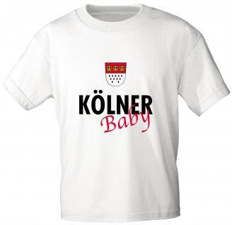 Kinder T-Shirt - Kölner Baby - 06938 - weiß - Gr. 98/104
