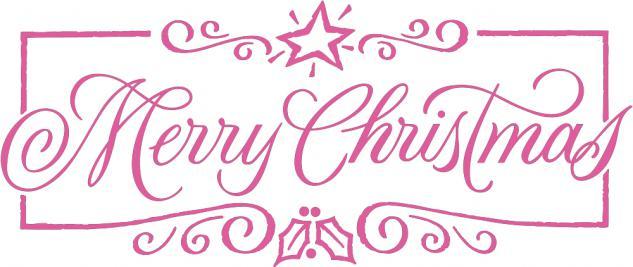"""Wandtattoo/ Dekorfolie mit Motiv """" Marry Christmas"""" Ø 90 cm Länge max. 100 cm, in 11 Farben WD0800 rosa"""