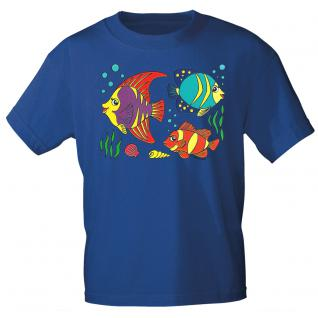 Kinder Marken-T-Shirt mit Motivdruck in 12 Farben Fische K12779 110/116 / Royal