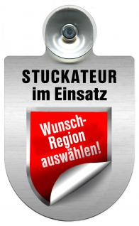 (309747) Einsatzschild Windschutzscheibe -Stuckateur- incl. Regionen nach Wahl