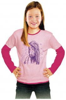 Kinder-Longsleeves mit Print - Schmetterling-Pony - Kollektion BÖTZEL - 08667 pink-rosa - Gr 110/116