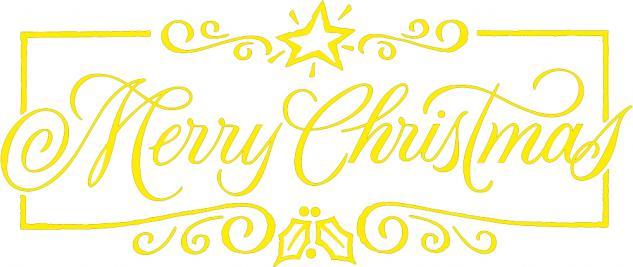 """Wandtattoo/ Dekorfolie mit Motiv """" Marry Christmas"""" Ø 90 cm Länge max. 100 cm, in 11 Farben WD0800 gelb"""