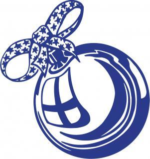 """Wandtattoo/ Dekorfolie mit Motiv """" Weihnachtskugel"""" Ø 90cm Länge max.100 cm, in 11 Farben WD0803 blau"""
