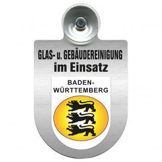 Einsatzschild für Windschutzscheibe incl. Saugnapf - Glas- u. Gebäudereinigung im Einsatz - 309399-1 Region Baden-Württemberg