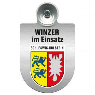 Einsatzschild Windschutzscheibe incl. Saugnapf - Winzer im Einsatz - 309466-12 Region Schleswig-Holstein