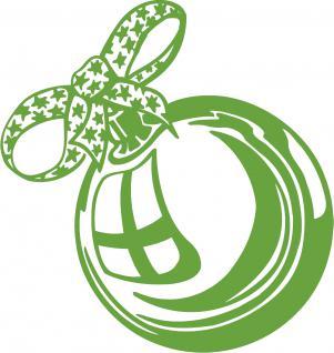 """Wandtattoo/ Dekorfolie mit Motiv """" Weihnachtskugel"""" Ø 90cm Länge max.100 cm, in 11 Farben WD0803 grün"""