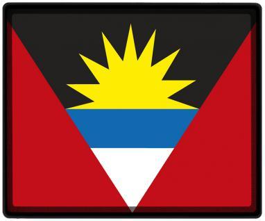 Mousepad Mauspad mit Motiv - Antigua + Barbuda Fahne Fußball Fußballschuhe - 82011 - Gr. ca. 24 x 20 cm